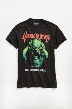 Check out Goosebumps Haunted Mask Tee from Urban Outfitters Nasa Hoodie, Under Armour Men, Cotton Tee, Adidas Men, Cool Outfits, Graphic Tees, Shirt Designs, Man Shop, Mens Tops