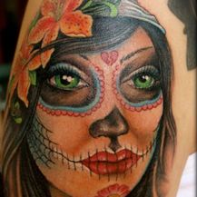 Some kind of skull girl...