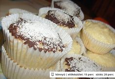 Bounty muffin 2. Gourmet Recipes, Dessert Recipes, Hungarian Recipes, Hungarian Food, Eat Dessert First, Winter Food, Let Them Eat Cake, Food And Drink, Baking