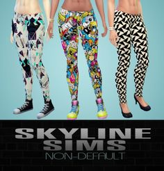 Skyline Sims: Footless tights - Sims 4 Downloads