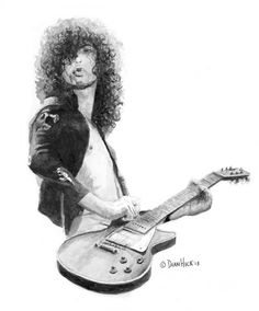 Jimmy Page - Watercolor Painting by Dean Huck on ARTwanted