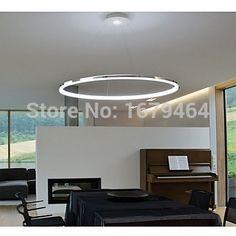 LED 60cm Free Shipping Pendant Light Modern Design Living LED Ring 35w The Diameter Is 60CM #Affiliate