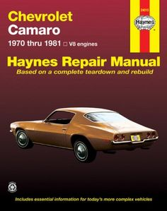 Chevrolet Camaro V8: 1970 thru 1981 (Haynes Repair Manuals) - http://musclecarheaven.net/?product=chevrolet-camaro-v8-1970-thru-1981-haynes-repair-manuals
