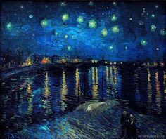 Vincent van Gogh: Starry Night Over the Rhone (1888) . My all time favorite artwork. Not many paintings really capture the emotion and beauty of looking upon the water at night, it takes my breath away. - Katelyn Rollins