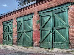 Check Out The Colors On These Garage Doors What Cars Could Be Behind Those