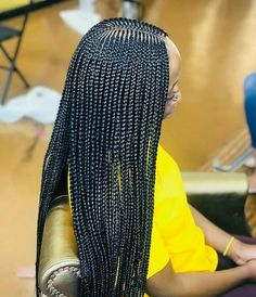 61 Totally Chic And Colorful Box Braids Hairstyles To Wear! Lemonade Braids Hairstyles, Two Braid Hairstyles, African Braids Hairstyles, My Hairstyle, Black Girls Hairstyles, Winter Hairstyles, Protective Hairstyles, Hairdos, Protective Styles