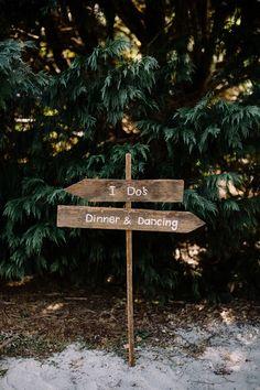 Wooden signage