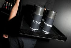 Guests could play with 30 Chanel-branded spray paint cans, which interacted with LED screens to make temporary graffiti.