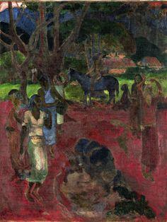 Paesaggio tahitiano con nove figure, 1898 Olio su tela, cm 193 x Paul… Gouache, Paul Gaugin, Gauguin Tahiti, Artist Sketchbook, Post Impressionism, Art Station, Sculpture, Gravure, Matisse
