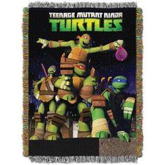 Nickelodeon's Teenage Mutant Ninja Turtles Guardian Ninjas 48 inch x 60 inch Woven Tapestry Throw, Multicolor