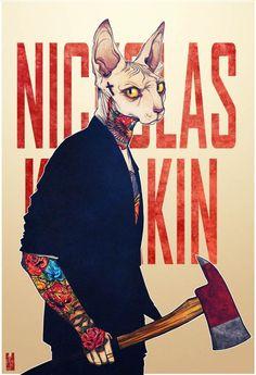 """Dans la lignée de l'excellente série """"Zoo Portraits – Les animaux habillés de Yago Partal"""", voici la série """"ANTHROS"""" de l'illustrateur vietnamien Kim Nguyen."""