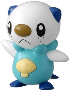 Takaratomy Pokemon Black and White Monster Collection Mini Figure - M-003 - Mijumaru / Oshawott & M-005 - Mogurew / Drilbur & M-130 - Heatran & M-129 - Manaphy (Pack of 4) pokemon x and y