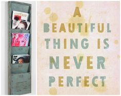 nice quote and lettering... from WABI SABI