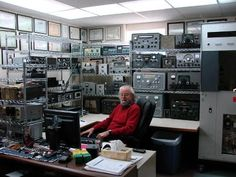 You know that empty room in your house? This is what it will become . . . QRZ - Ham Radio