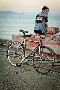 Virginia - fixie, bike, girl, velo, bici