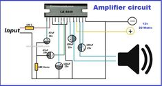 ic 4440 amplifier circuite is very simple amplifier. It is very cheap but realiable circuit of 20 watts. audio amplifier circuit using ic 4440 is famous. Electronic Circuit Projects, Electronic Engineering, Car Audio Amplifier, Stereo Amplifier, Audi Tt, Ford Gt, Circuit Cars, Circuit Components, Inverter Welder