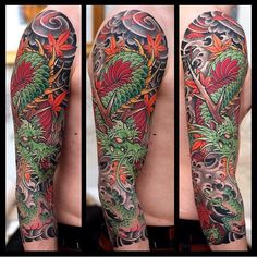 The Japanese Dragon Tattoo Sleeve by Johan Svahn is a great example of the Japanese tattoo art. They are fond of making full sleeve tattoos and dragons. Koi Dragon Tattoo, Dragon Tattoos For Men, Dragon Sleeve Tattoos, Japanese Dragon Tattoos, Japanese Tattoo Art, Japanese Tattoo Designs, Japanese Sleeve Tattoos, Dragon Tattoo Designs, Tattoo Sleeve Designs