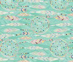 sweet dreams (horizontal) fabric by gracedesign on Spoonflower - custom fabric