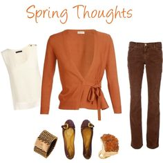 """""""Spring Thoughts for Warm Autumns"""" by jjeanine on Polyvore"""