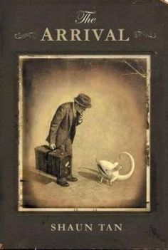 The Arrival-Shaun Tan: Wordless graphic novel, portrayed by the detailed, imaginative, and interesting pictures. Coming from the point of view of immigrants and refugees. Shaun Tan, Wordless Picture Books, Wordless Book, Good Books, My Books, Free Books, Art Spiegelman, The Arrival, Illustration