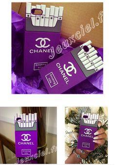 Coque Chanel originale Silicone pour iphone 5/5s/6/6plus Samsung S5 S6 Note 3/4 sous forme de porte-cigarettes -six coloris sur jeuxciel.fr