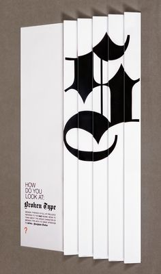 A poster project to promote broken typography. The intention is to change the perspective of the prestressed broken type (mainly because of the usage during the Nazi regime) to a new image with great attention to its details.