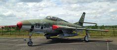 Republic RF-84F Thunderstreak at Gatow airport, Berlin, Germany