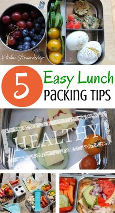 5 Easy Tips to Help you Pack Super Successful Real Food Lunches this School Year. 5 tips to avoid processed lunches from a former teacher and mom of 4 - you can pack a healthy lunch to go every day and not stress about it!