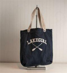 Lakegirl Tote Bag from At the Lake in Leland, Michigan #midwestparadise #lake4life