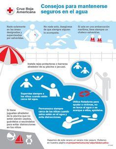 Consejos para bañarse seguros #infografia