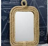 nautical decor.  new bathroom mirror
