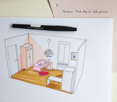 croquis Shaïly 1 Piece A Vivre, Office Supplies, Pink, Justine, Bedroom Ceiling, Hobby Lobby Bedroom, Helping Hands, 18 Months, Hot Pink
