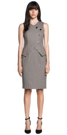 25b6ab331c4 CUE - Mini Houndstooth Fitted Dress Cue Clothing