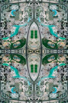 Kaleidoscope-inspired aerial images #photography #landscape #surreal