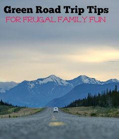 Heading out on the open road? Learn how to plan a green road trip for some frugal family fun! See the world with a smaller carbon footprint!