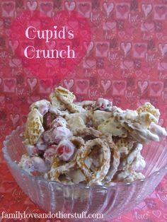 Cupid's Crunch Valentine's Snack Recipe! Easy to Make