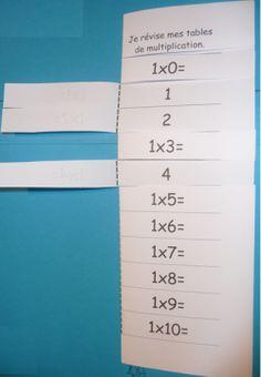 Tables de multiplication: ressources à imprimer (Dix mois).