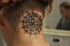 Dot work Mandala tattoo. I love this Mandala tattoo!!!!
