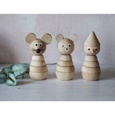 Houten Stapelfiguur Pinokkio - Sassefras Meisjes Speelgoed