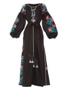 Marigold-embroidered long dress | Vita Kin | MATCHESFASHION.COM