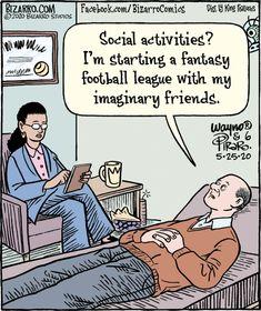 Bizarro Bizarro Comic, Fantasy Football League, Comics Kingdom, Social Activities, Buy Prints, Jokes, Life, Humor, Chistes
