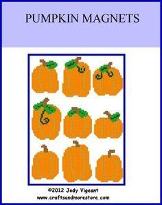 Pumpkin Magnets 1/2
