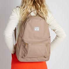 Nova Mid-Volume Backpack in Beige Ladies Backpack, Herschel Supply Co, Striped Fabrics, Luggage Bags, Leather Backpack, Carry On, Purses And Bags, Nova, Burgundy