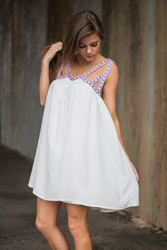 """""""Trust Your Heart Dress, Ivory"""" 
