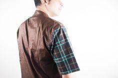 Detail BROWN Short Tartan in Half 'Le Meridien'  #menfashion #ghaisaniyara #fashion