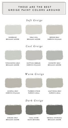 These Are The Best Greige Paint Colors Around - Laurel Harrison - Living room paint colors - greige color Exterior Paint Colors For House, Interior Paint Colors, Paint Colors For Living Room, Paint Colors For Home, House Colors, Interior Painting, Modern Paint Colors, Farmhouse Paint Colors, Painting Living Rooms