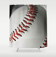 Baseball Shower Curtain Standard Or Extra By NaturalLightStudio