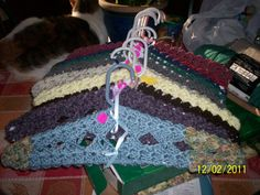 Crocheted Hanger by victorianaccents on Etsy, $4.50 - pattern N/A anymore, just inspiration