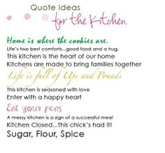 Quotes for the kitchen!