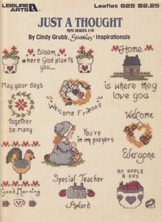 Just a Thought Mini Series #19 Cross Stitch pattern chart leaflet Miniatures